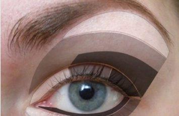 درشت نشان دادن چشم با آرایش