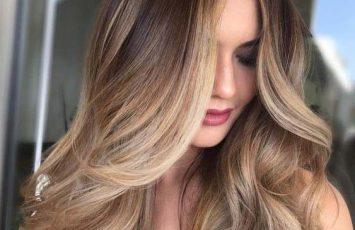 رنگ و لایت زیبا مو